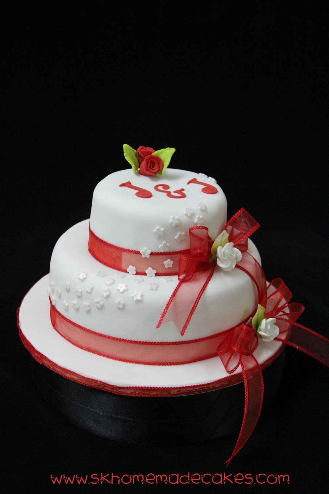 tier Fondant Wedding cake
