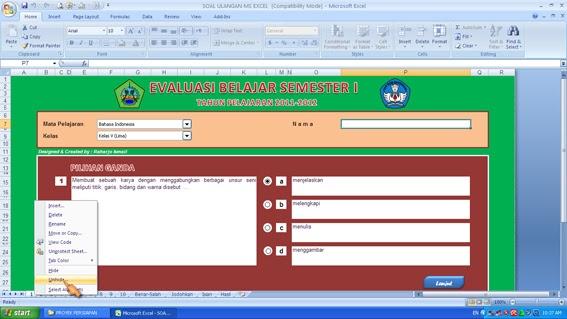 Soal Latihan Interaktif Menggunakan Ms Excel Raharjo Ismail P Blog