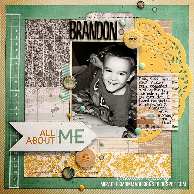 Boy_Creative Artist_Writer_Scrapbook Page