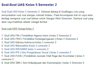 download soal uas ips sd
