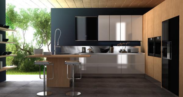 Desain dapur terbuka