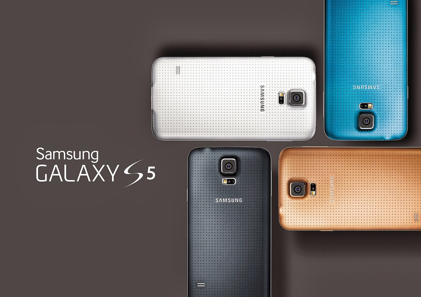 different colors of Samsung Galaxy S5