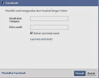 Posting Twitter Anda ke Facebook Page sekaligus