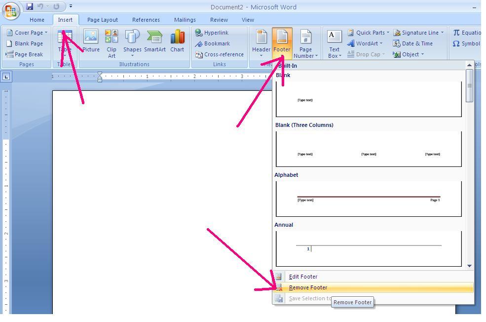 Create A Default Header Or Default Page Numbering 15