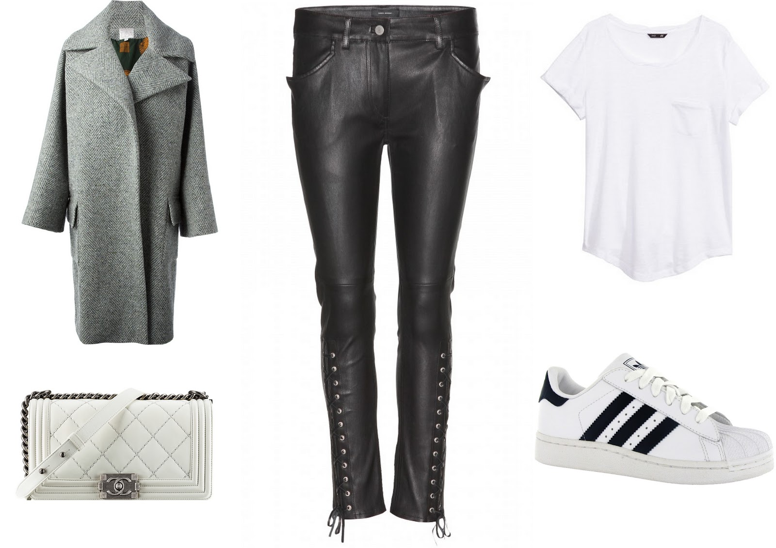 wishlist, chanel, isabel marant, trousers, stella jean, h&m, adidas, coat