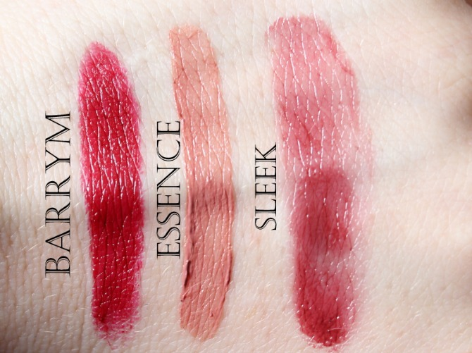 Autumn high street lip product swatches