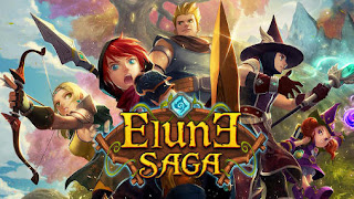 Screenshots of the Elune saga for Android tablet, phone.