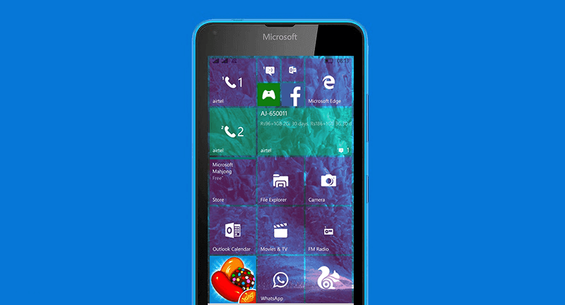 Lumia 640 running Windows 10 Mobile