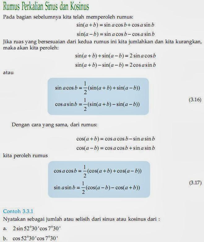Matematika Di Sma Rumus Perkalian Sinus Dan Kosinus