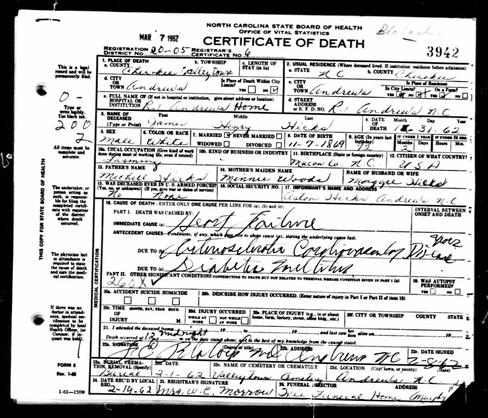 Jacob Leonard Hoyle Family History Hanna Magdaline Maggie Hoyle
