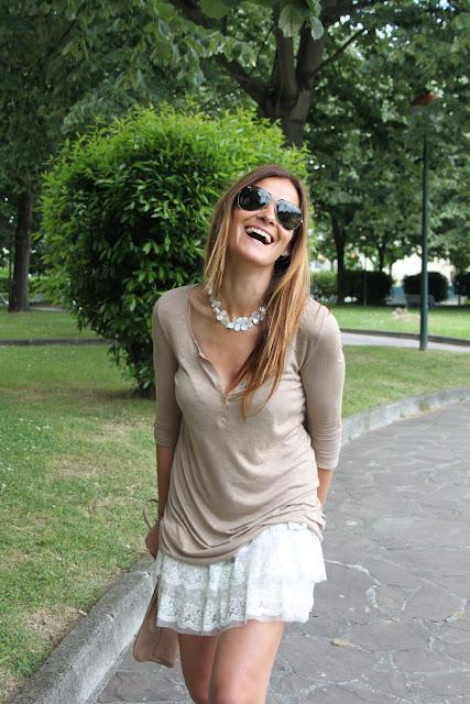 minifalda Zara volantes