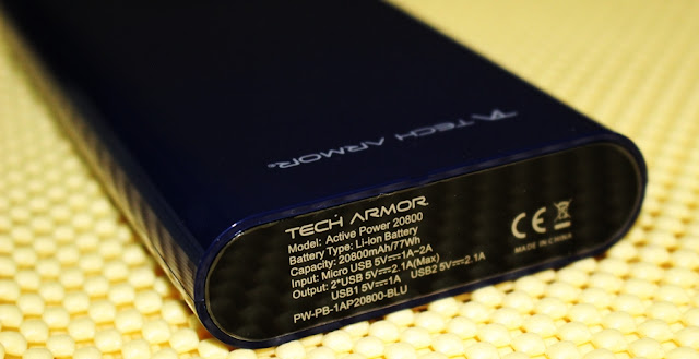 tech armor power bank 20800 mah