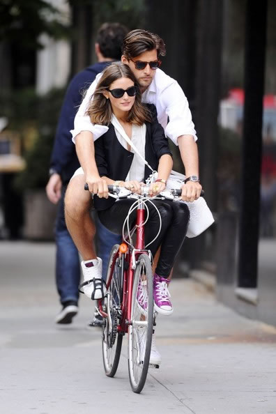 couple by bike