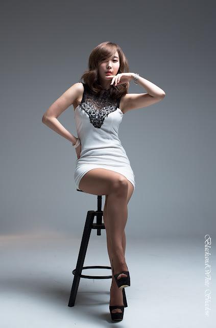 4 Im Min Young in White -Very cute asian girl - girlcute4u.blogspot.com