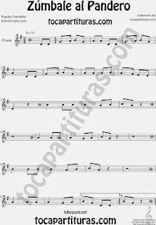 Partitura de Zúmbale al Pandero para Flauta Travesera, flauta dulce y flauta de pico by Sheet Music for Flute and Recorder Music Scores
