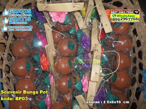 Souvenir Bunga Pot grosir