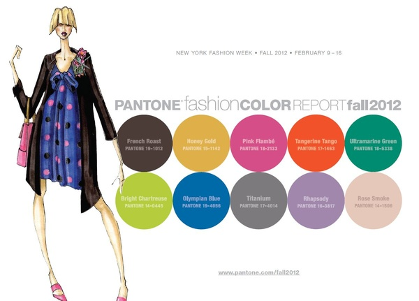 pantone, color, palette, report, fall, 2012