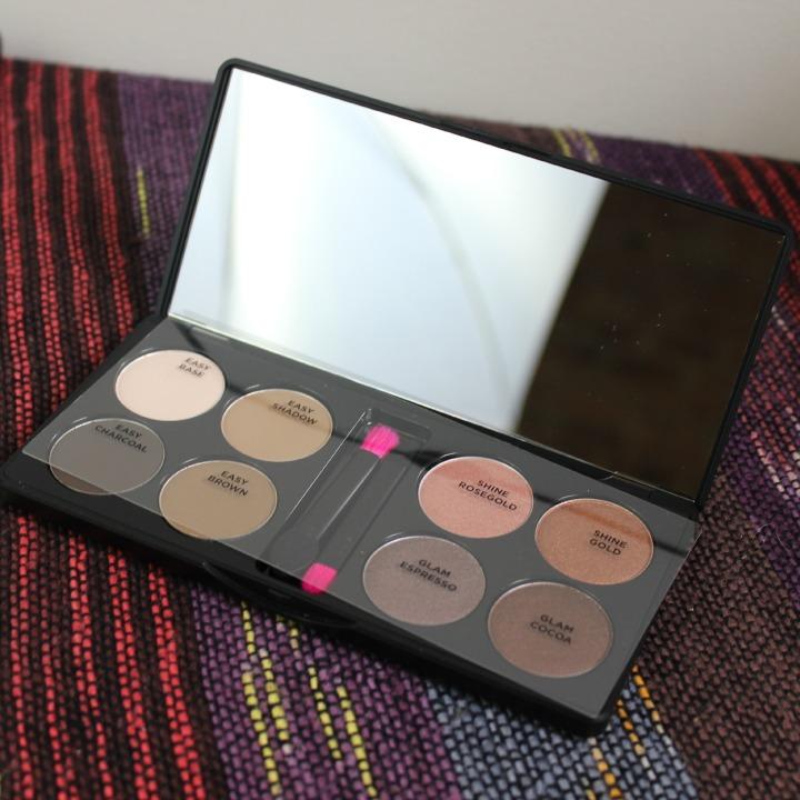 XO Pony X Memebox Eyeshadow Palette Shine Easy Glam #1 mirror case