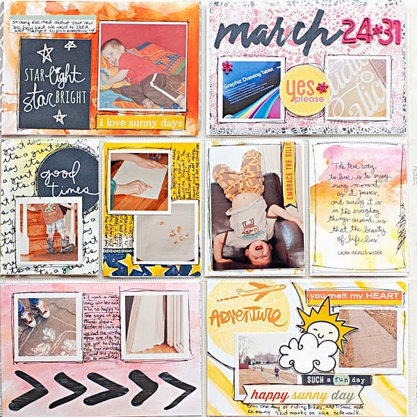 March 2014 Project Life (week 13 + 1 day) - left page