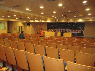 Sala de Imprensa do Real Madrid no Estádio Santiago Bernabeu
