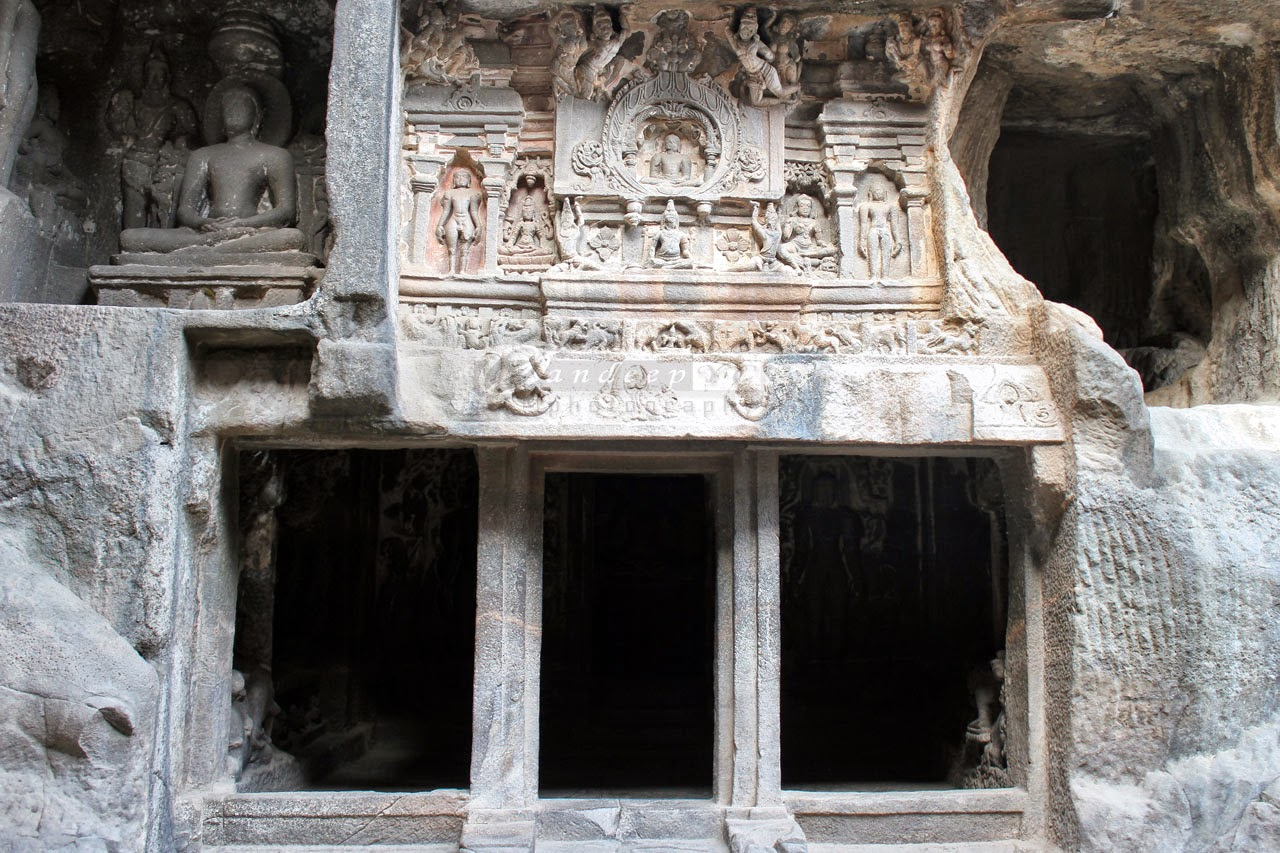 The east Shrine with door-frame pillars