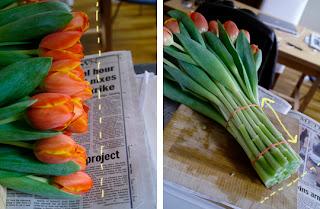 how to arrange tulips