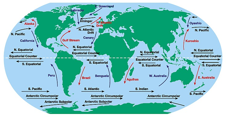 Ocean currents types causes circulation pattern of ocean ocean currents types causes circulation pattern of ocean currents of the world gumiabroncs Images