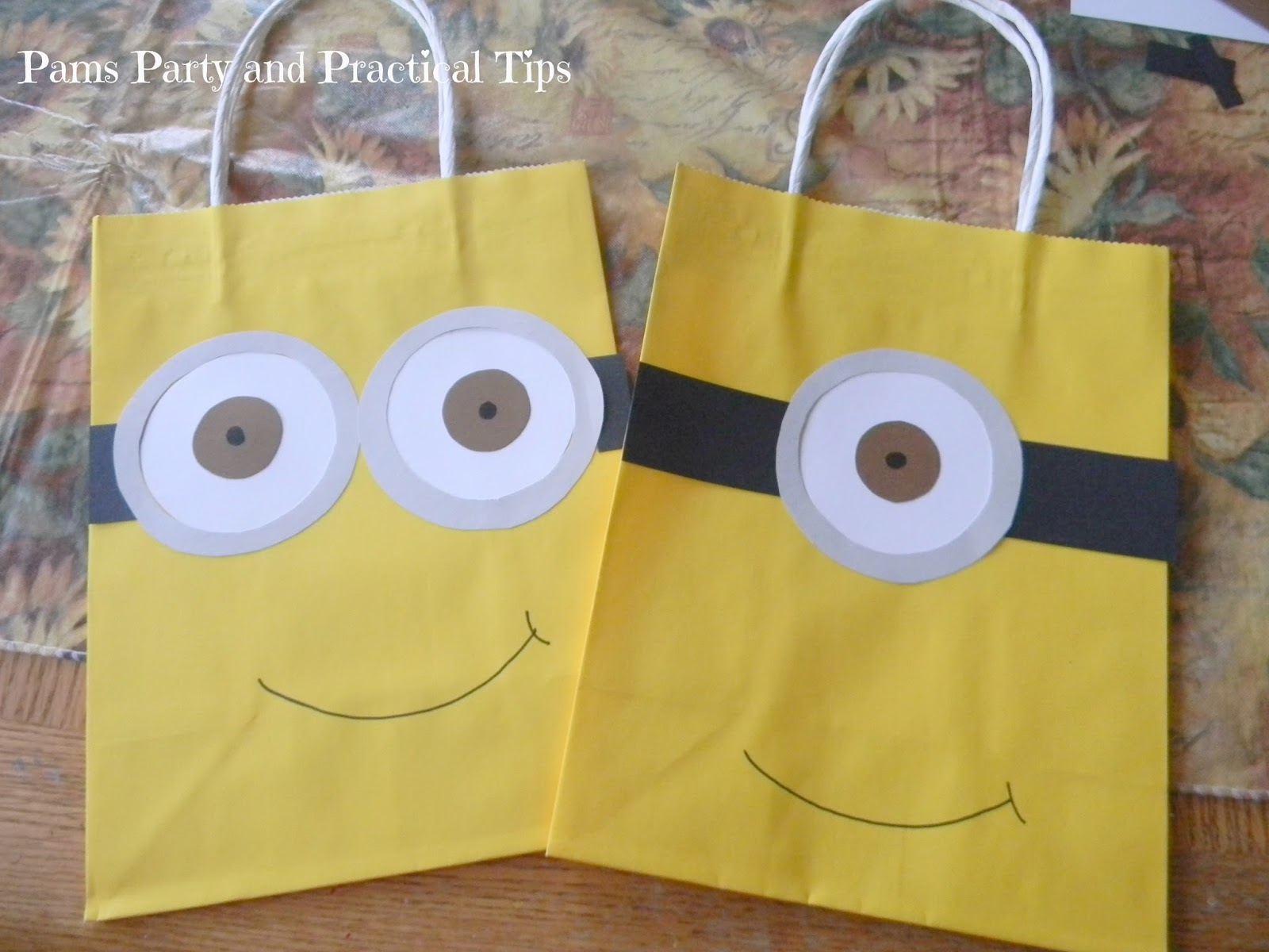 pams party practical tips despicable me party bags. Black Bedroom Furniture Sets. Home Design Ideas