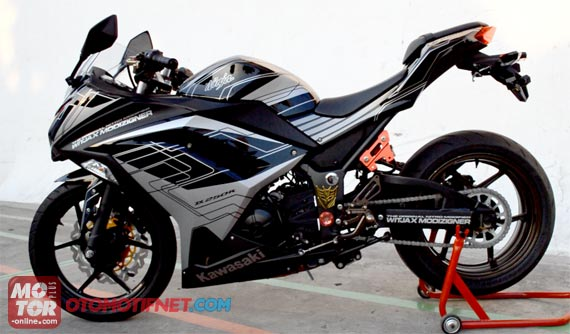 modifikasi motor ninja 250 cc 3 paling bagus