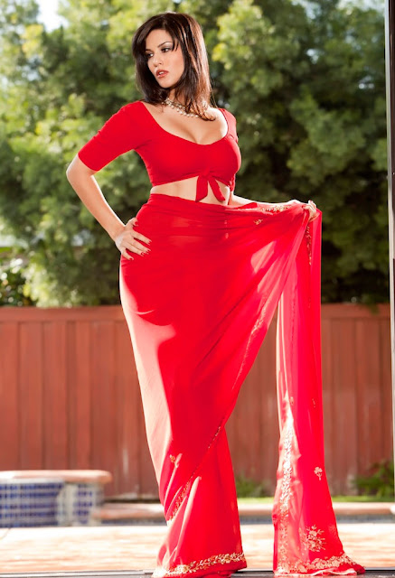Red Hot Sunny Leone's Photoshoot for JISM 2 in Red Saree