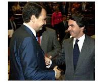 Aznar y Zapatero se dan la mano