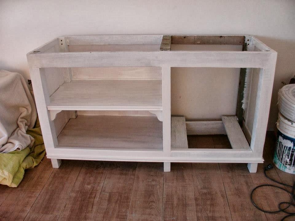 Azulejos Para Baño Reposicion: – Nació mi Mueble de Cocina Celeste a partir de un cerco de obra