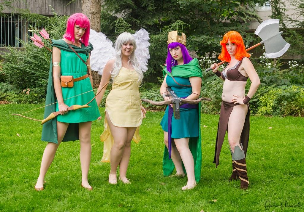 archer, healer, archer queen, valkyrie