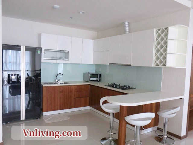 Kitchen Room Thao Dien Pearl 3 Bedrooms For Rent Saigon  River View