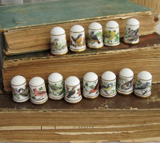 наперстки, птицы, Thimbles Franklin Mint
