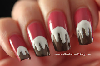 Christmas Pudding nail art tutorial