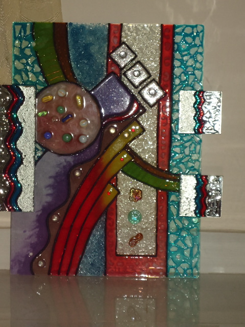 Renus arts n crafts glass mural for Arts and crafts mural