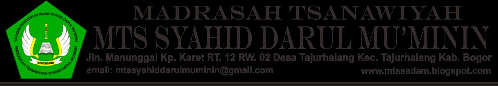 MTs. Syahid Darul Mu'minin