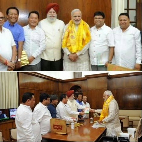 GJM delegation with Bimal Gurung met Narendra Modi for Gorkhaland