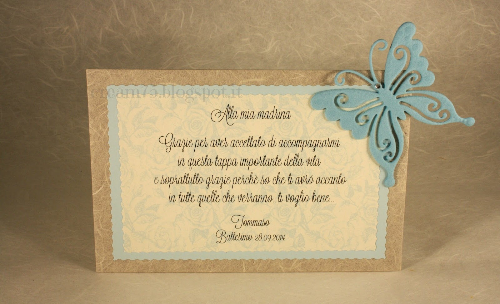 Favorito My Sweet Blog: Ricordo Battesimo per madrina e padrino PZ66