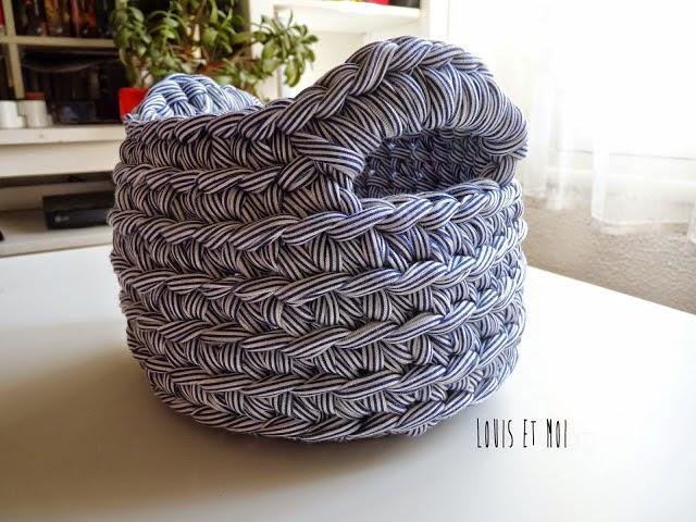 Cestita tejida al crochet con paso a paso | Crochet y Dos agujas ...
