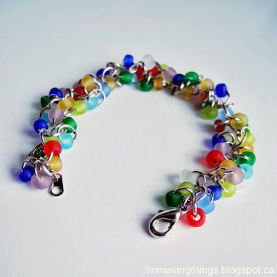 linmakingthings, beads, bracelet, jump ring, jewelry, eco-friendly, thrift store, DIY, accessory, Value Village