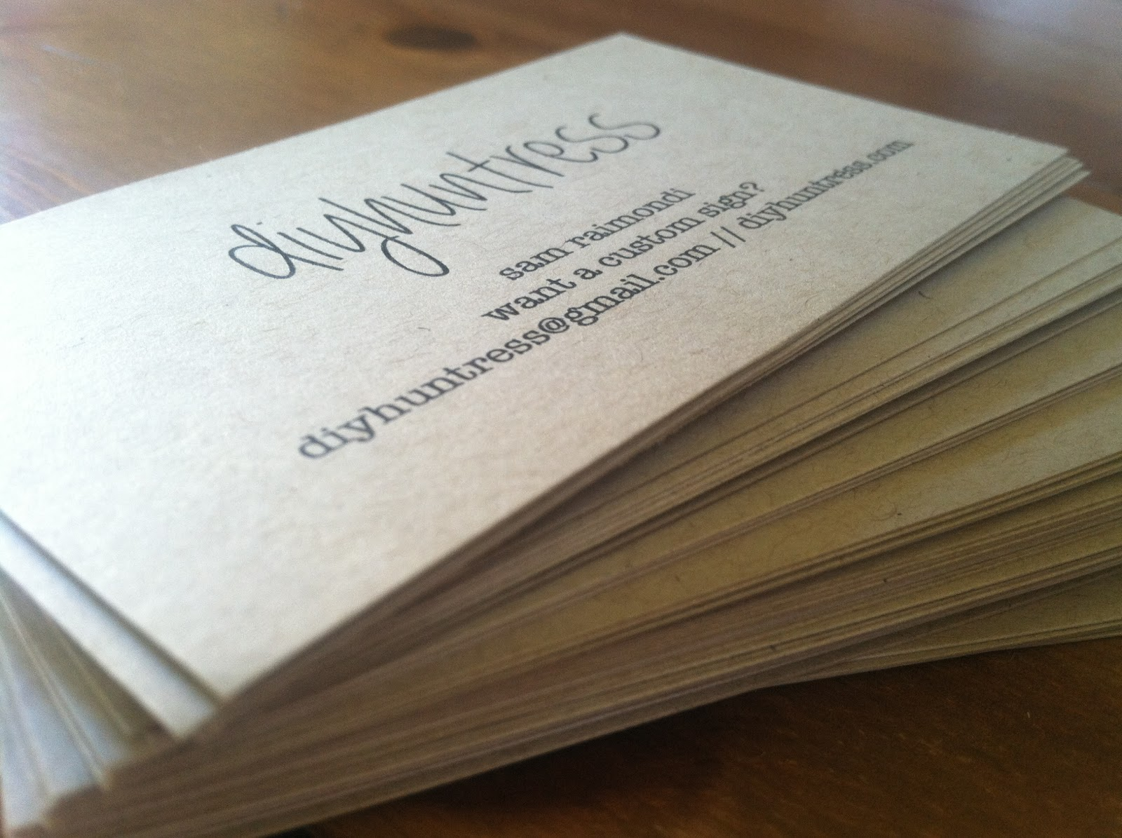 Create Your Own Business Cards - DIY Huntress