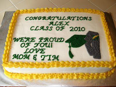 Graduation Sheet Cake Iced