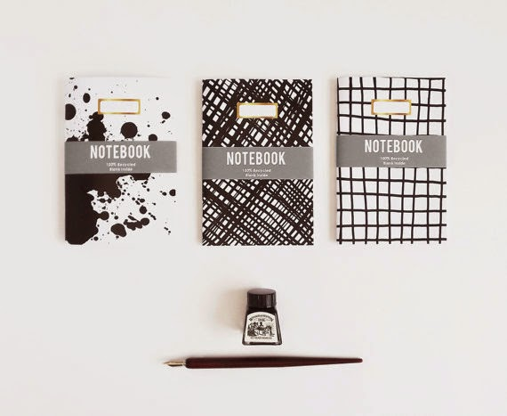 Ma Bicyclette: Buy Handmade | Sketch.Inc - Ink'd notebooks black and white
