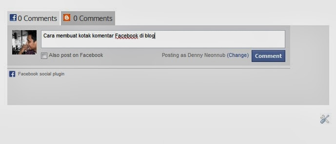 Cara Membuat Kotak Komentar Facebook dan Blog Berdampingan