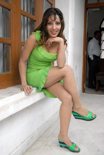 Ruby Very Hot Stills in Green Dress
