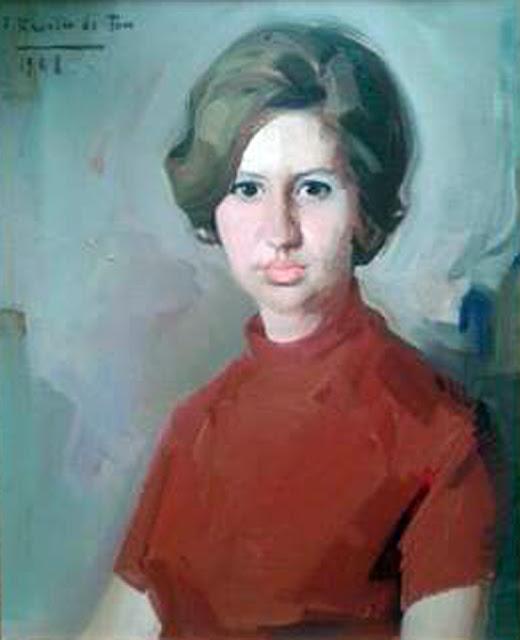 Retrato de Mª Cruz Hernández, Félix Revello de Toro, Retratos de Revello de Toro, Pintor español