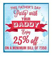 Dominos Father's Day Special Get 25% OFF on Rs.350 Orders:buytoearn