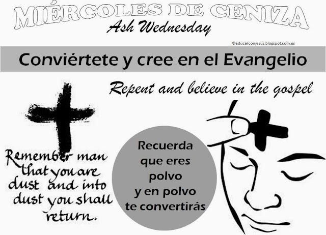 Camino hacia la Pascua: Recursos Catequesis Miércoles de Ceniza